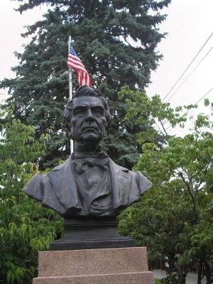 Closeup of William Seward Bust image. Click for full size.