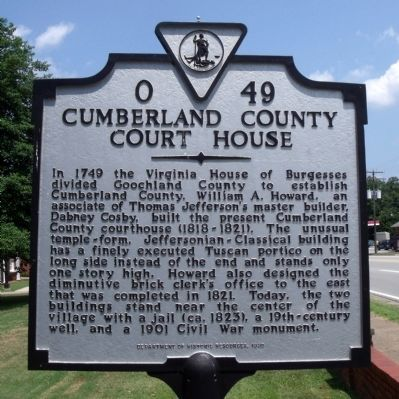 Cumberland County Court House Marker image. Click for full size.