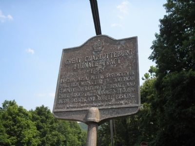 Great Charlotteburg Furnace Tract Marker image. Click for full size.