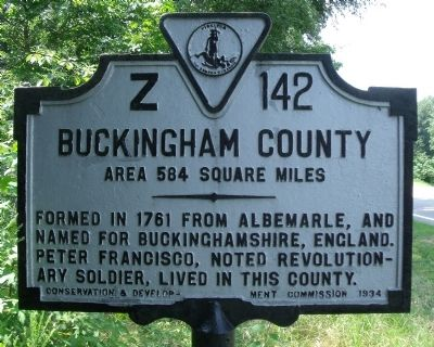 Buckingham County Marker image. Click for full size.