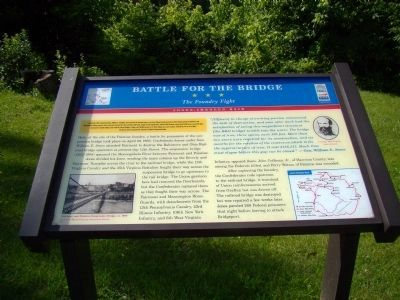 Battle for the Bridge Marker image. Click for full size.