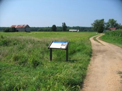 Second Wayside on the Slaughter Pen Farm Trail image. Click for full size.