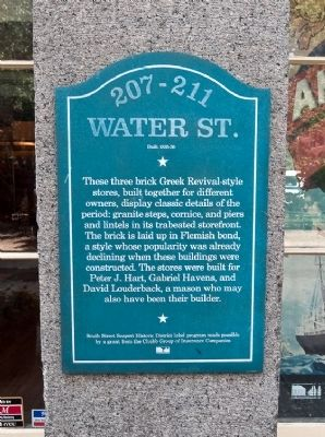 207 - 211 Water Street Marker image. Click for full size.