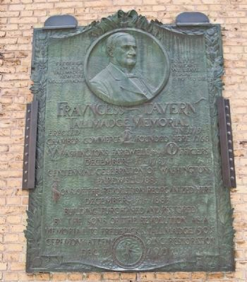 Fraunces Tavern Tallmadge Marker (detail) image. Click for more information.