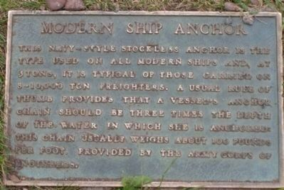 Modern Ship Anchor Plaque image. Click for full size.