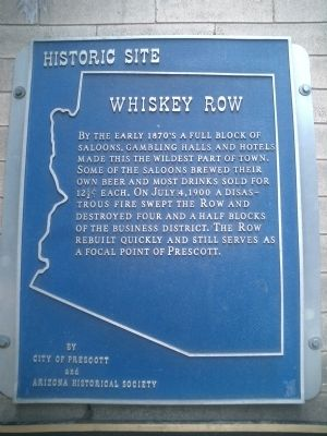 Whiskey Row Marker image. Click for full size.