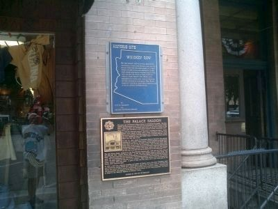 Whiskey Row Marker along with The Palace Saloon Marker image. Click for full size.