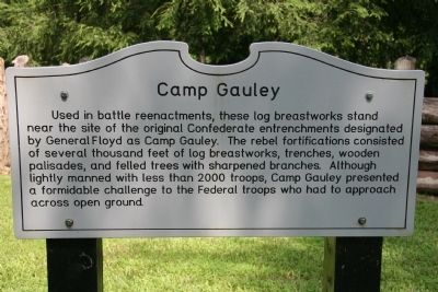 Camp Gauley Marker image. Click for full size.
