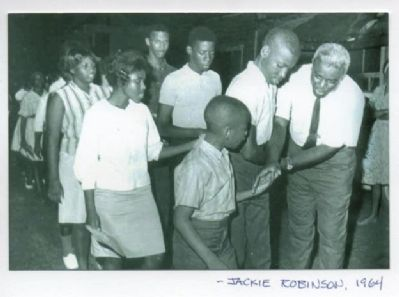 Baseball's Jackie Robinson visits St. Augustine to encourage the demonstrators image. Click for full size.