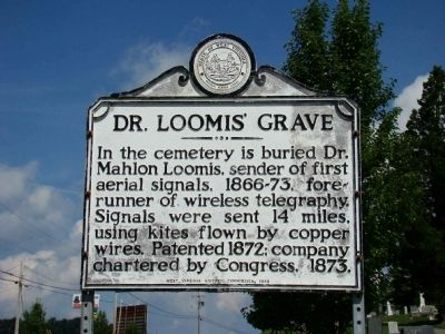 Dr. Loomis' Grave Marker image. Click for full size.
