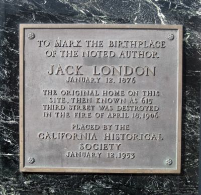 Jack London Marker image. Click for full size.
