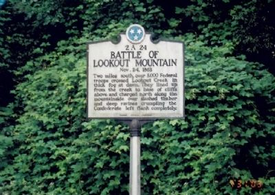 Battle of Lookout Mountain Marker image. Click for full size.