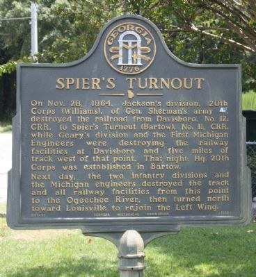 Spier's Turnout Marker image. Click for full size.