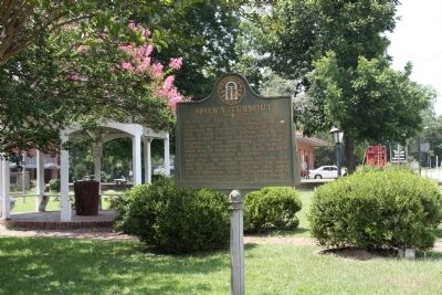 Spier's Turnout Marker as seen along US 221 image. Click for full size.