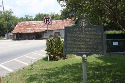 Spier's Turnout Marker, near intersection wth US 319 image. Click for full size.