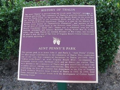 History of Thalia Marker image. Click for full size.