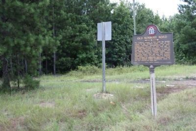 Old Sunbury Road Marker at a one-time dirt road image. Click for full size.