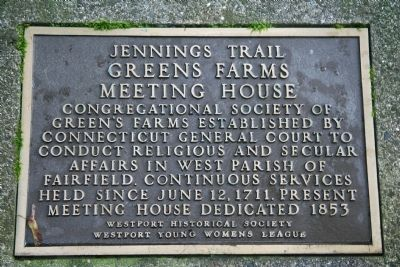 Greens Farms Meeting House Marker image. Click for full size.