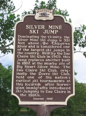 Silver Mine Ski Jump Marker image. Click for full size.