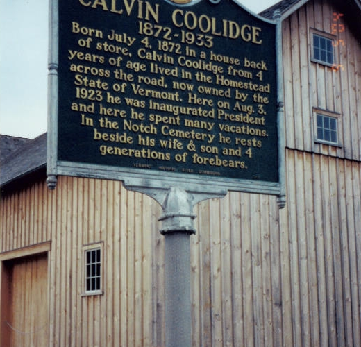 Calvin Coolidge Marker