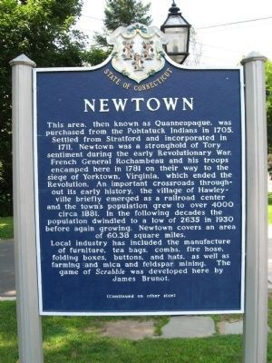 Newtown Marker (front) image. Click for full size.