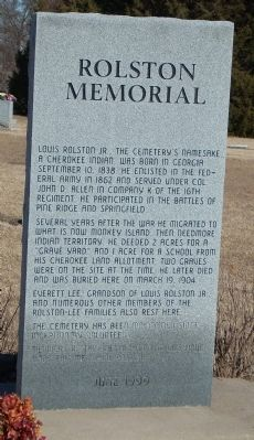 Rolston Memorial Marker image. Click for full size.