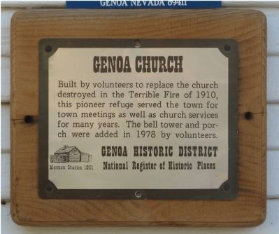 Genoa Church Marker image. Click for full size.