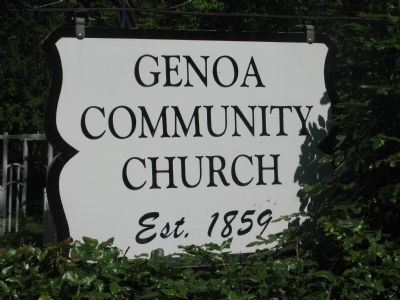 Genoa Community Church Sign at Front of Property image. Click for full size.