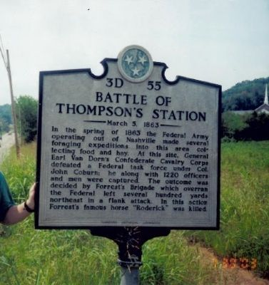 Battle of Thompson's Station Marker image. Click for full size.