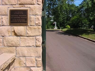 Cemetery Entrance Plaque image. Click for full size.