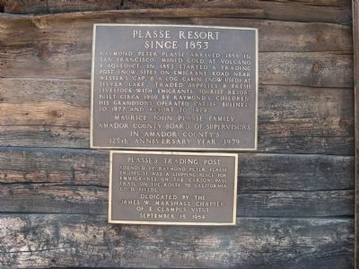 Plasse's Trading Post Marker image. Click for full size.