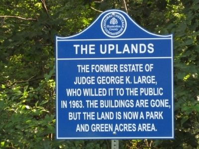 Uplands Marker image. Click for full size.