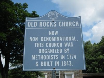 Old Rock Church Marker image. Click for full size.