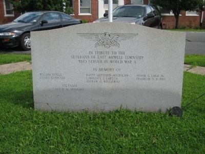 East Amwell Veterans Monument image. Click for full size.