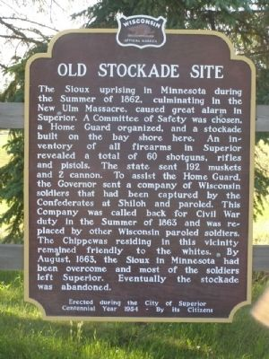Old Stockade Site Marker image. Click for full size.