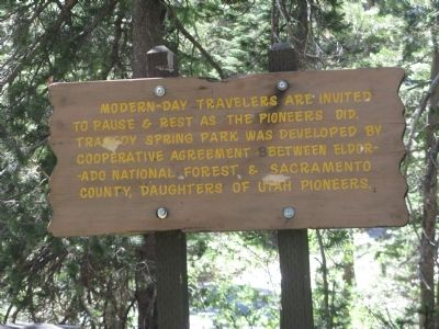 Sign at Beginning of Trail to the Gravesite. image. Click for full size.