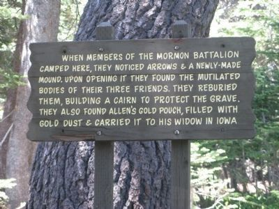 Interpretive Sign at the Gravesite image. Click for full size.