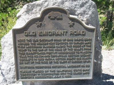 Old Emigrant Road Marker image. Click for full size.