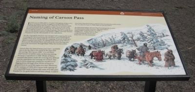 Naming of Carson Pass Marker image. Click for full size.