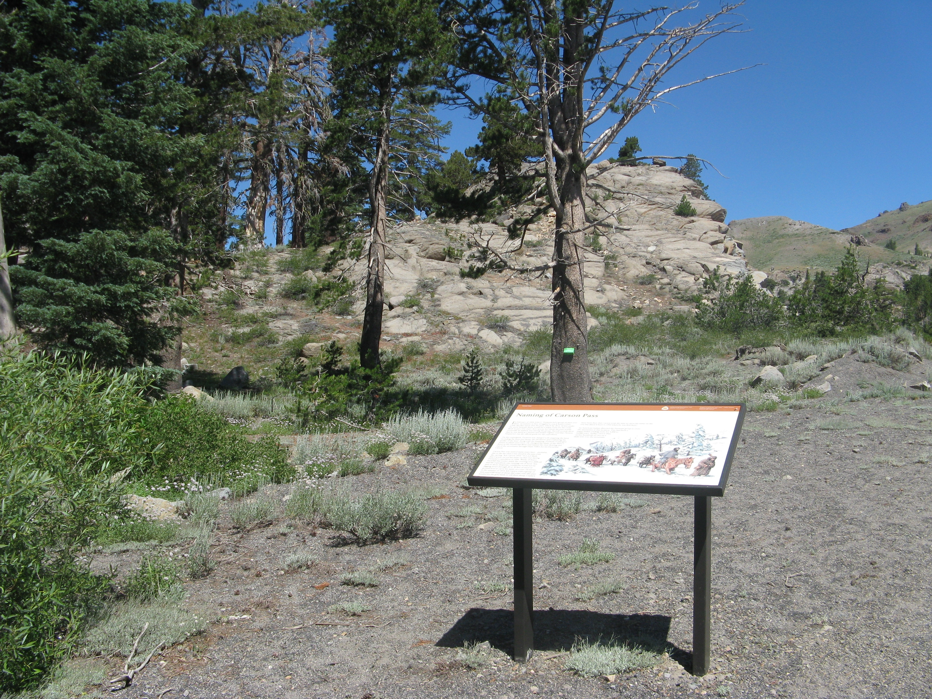 Naming of Carson Pass Marker