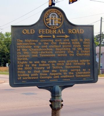 Old Federal Road Marker image, Touch for more information