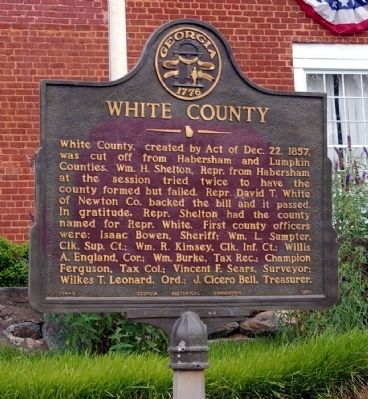 White County Marker image. Click for full size.