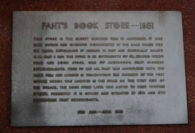 Fant's Book Store -- 1851 Marker image. Click for full size.