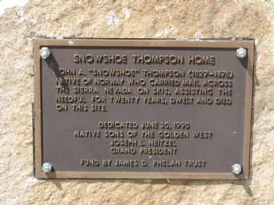 Snowshoe Thompson Home Marker image. Click for full size.