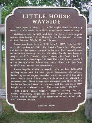 Little House Wayside Marker image. Click for full size.