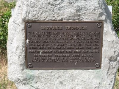 Snowshoe Thompson Marker image. Click for full size.