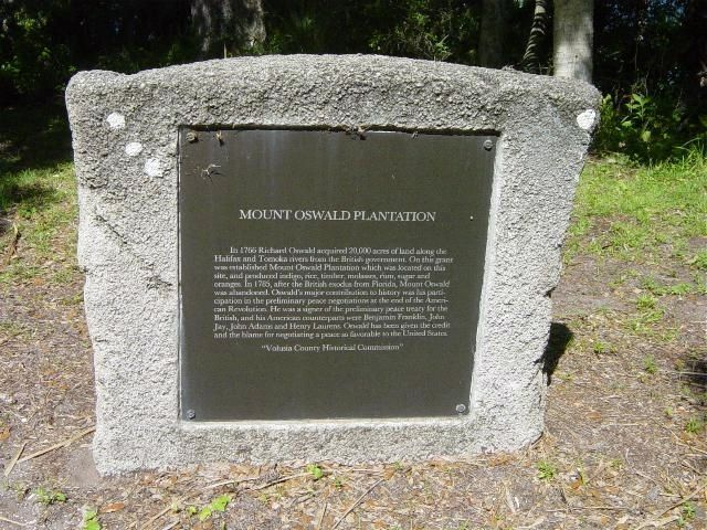 Mount Oswald Plantation Marker image. Click for full size.