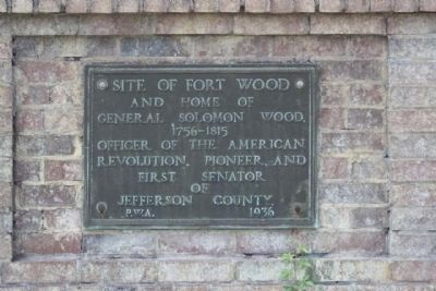 Site of Fort Wood Marker image. Click for full size.