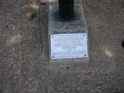 Elvis Aaron Presley Marker at Base of Stand image. Click for full size.