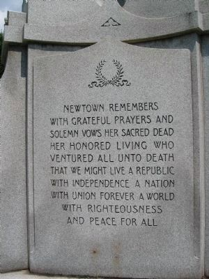 Newtown Veterans Memorial image. Click for full size.